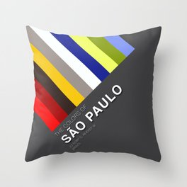 Colors of Sao Paulo Throw Pillow