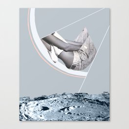 Moon Slices Canvas Print
