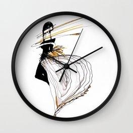 NEON GIRL Wall Clock
