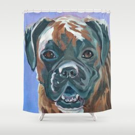 Boone the Boxer Dog Portrait Shower Curtain