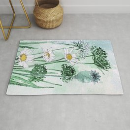 Thistles and Daisies Rug