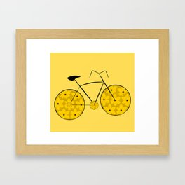 Floral ride Framed Art Print
