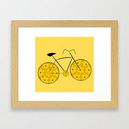 Floral ride Framed Art Print