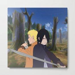 Naruto & Sasuke Metal Print