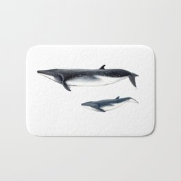 Bryde´s whale and baby whale Bath Mat
