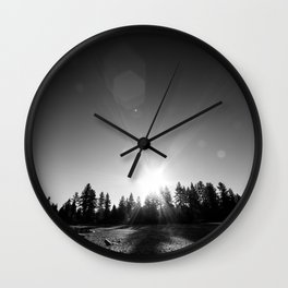 Tahoe Sunrise Wall Clock