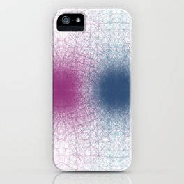 Scattered Lines Converge iPhone Case