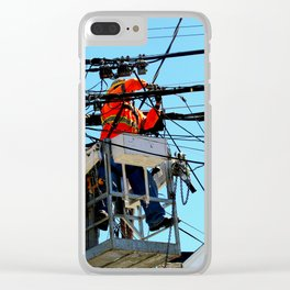 Just A Little Bit Higher Clear iPhone Case