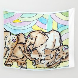 Elephants Wall Tapestry