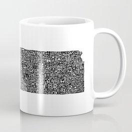 Typographic Kansas Coffee Mug