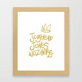 Jughead Jones was here Framed Art Print