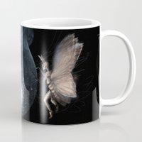 moth Mugs featuring Moth by Ink Bird Art