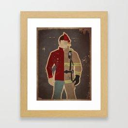 Every Day Hero: Firefighter Framed Art Print