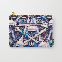 Magick Skull Star Watercolor Carry-All Pouch