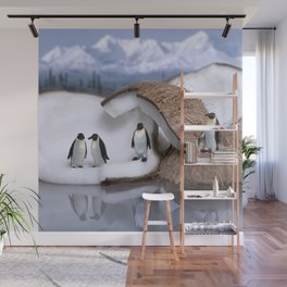 | Wild Food - Coconut and Penguins | Wall Mural