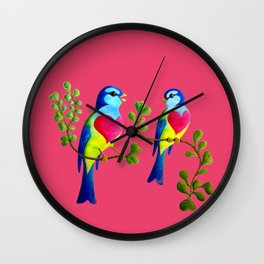 finches love Wall Clock