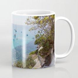 Mediterranean Sea bay summer yachts sailboats boats travel vacation seascape Coffee Mug