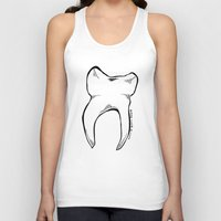 tooth Tank Tops featuring Tooth by Addison Karl