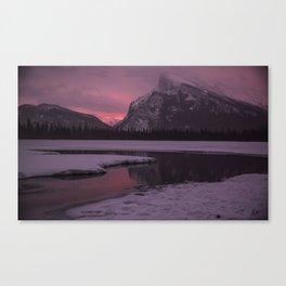 Vermillion Sunrise Three Canvas Print