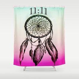 11:11 Eleven Eleven Spiritual Dream Catcher Shower Curtain