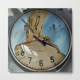 MELTED CLOCK Metal Print