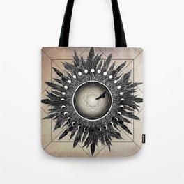 Crow Twilight Dreamcatcher Tote Bag
