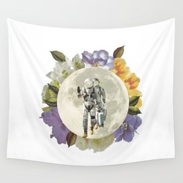 First men on the moon Wall Tapestry