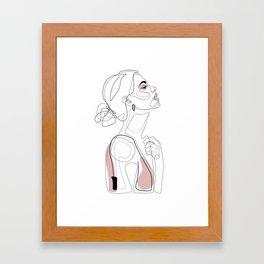 Blush Beauty Framed Art Print