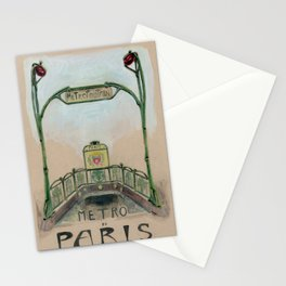 Paris Metro Poster Stationery Cards