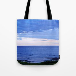 Blue on Blue at the River Mouth Tote Bag