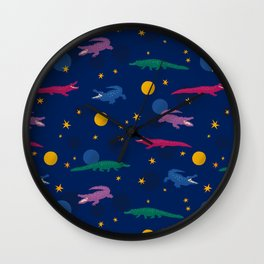 Cosmic Crocodiles Wall Clock