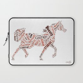 Arabian Horse Words Laptop Sleeve