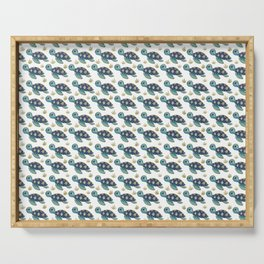 Cute Blue Sea Turtle Serving Tray