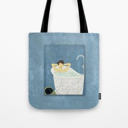 Bathtub Scene Tote Bag