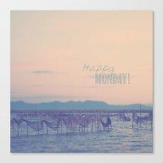 Happy Monday Canvas Print