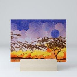 Lavendar Morning with Dove Mini Art Print