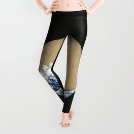Hokusai Kaiju Leggings