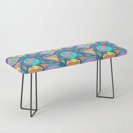 Nineties Dinosaur Pattern Bench