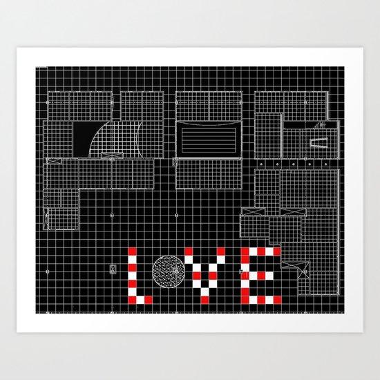 Architectural Print - Ceiling Plan - LOVE Art Print