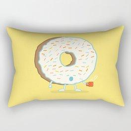 The Sleepy Donut Rectangular Pillow
