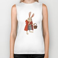 red riding hood Biker Tanks featuring Little Red Riding Hood by Alyssa Tallent