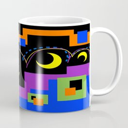 Hopping Over Crescent Moons Coffee Mug