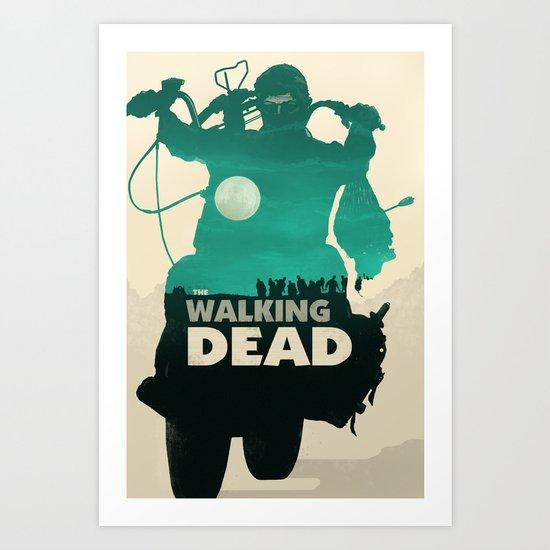 Daryl Dixon - Teal Art Print