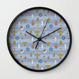 Kawaii Hanukkah Wall Clock