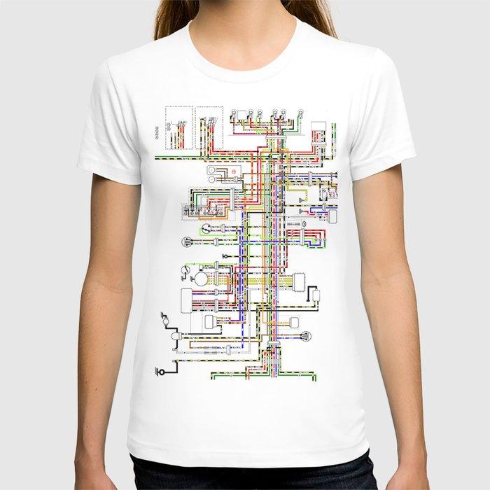 Colorful electric scheme T-shirt