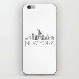 Minimal New York Skyline Design iPhone Skin