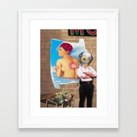 police Framed Art Prints featuring Police by Pierre-Paul Pariseau