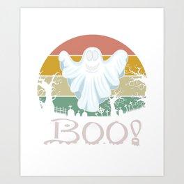 Vintage Boo Halloween Art Print