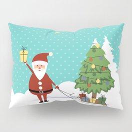Santa Claus and gifts Pillow Sham