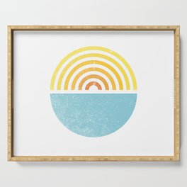 Vinyl Sunset Ocean Serving Tray